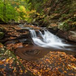 Pennsylvania Ricketts Glen Autumn Waterfall