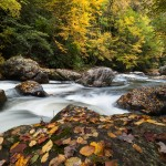 North Carolina Cullasaja River Gorge Autumn