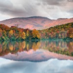North Carolina Grandfather Mountain Price Lake Autumn Reflections