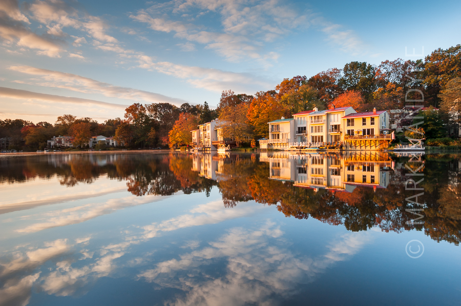 Lake Anne Reston Virginia Autumn Sunrise