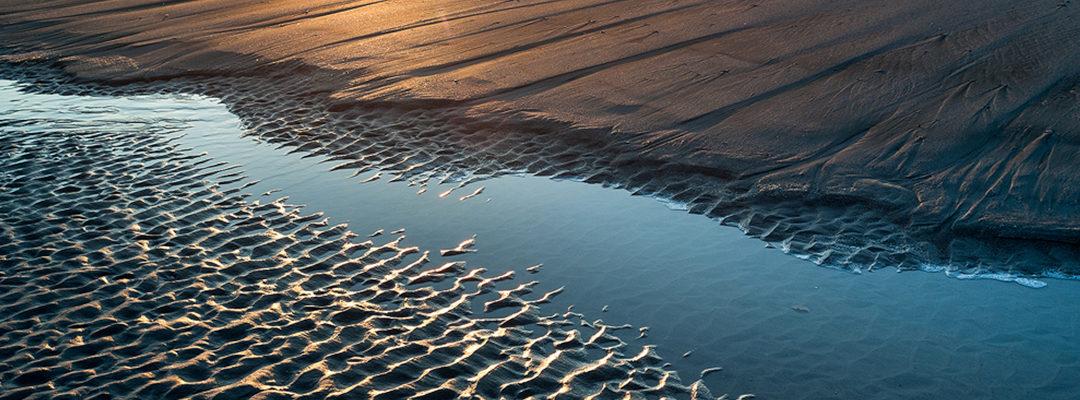 "Shifting Sands:  Charleston, South Carolina's Folly Beach ""Washout"" at Sunrise"
