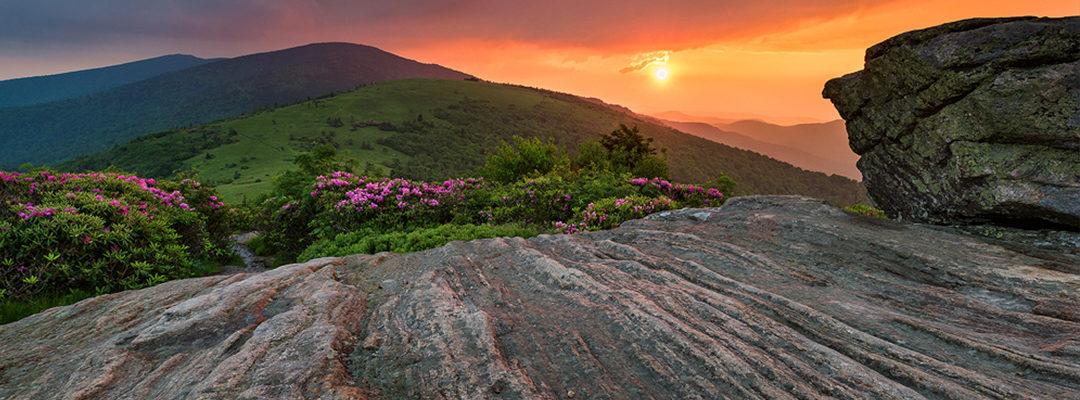 Jane Bald Roan Mountain Highlands Appalachian Trail Sunset