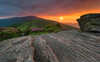 Jane Bald Roan Mountain Highlands Appalachian Trail Sunset