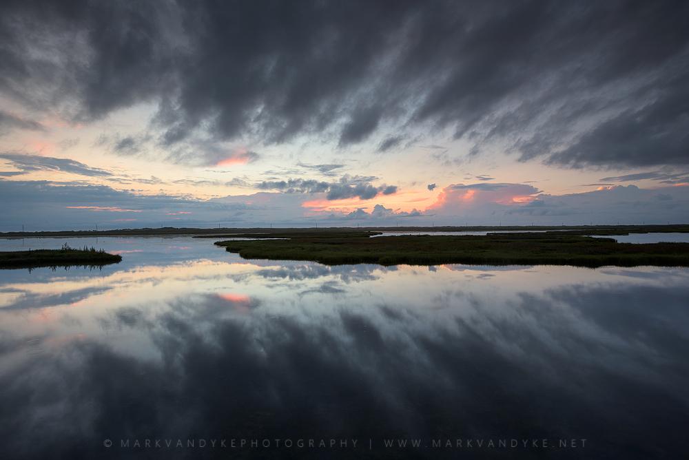 Dark Reflections: Bodie Island Marsh