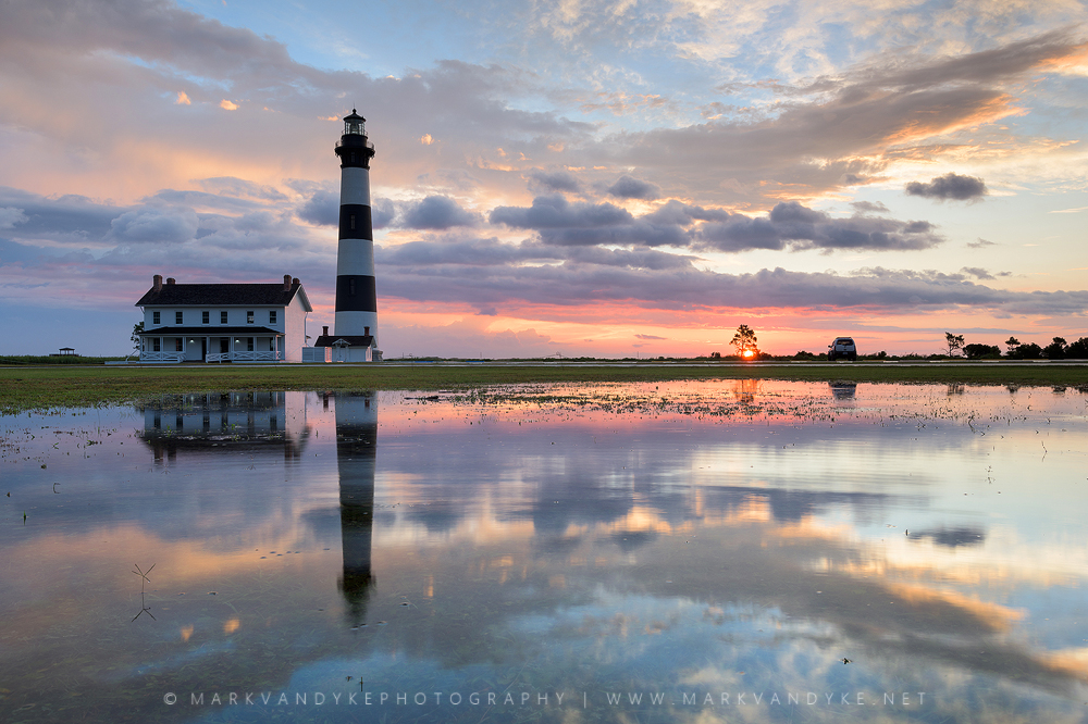 Bodie Island Lighthouse: Sunrise Reflections