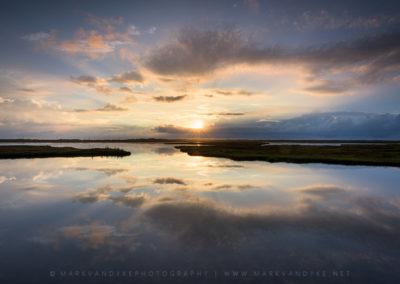 Sunrise Marsh Reflections OBX North Carolina