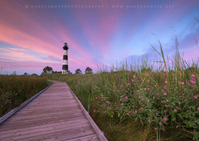 Sunrise Bodie Island Lighthouse Pink