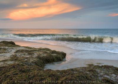 Oregon Inlet Crashing Wave Sunset Scenic
